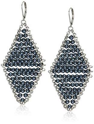 Kenneth Cole Woven Faceted Bead Kite Drop Earrings