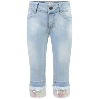 MET METBlue Jeans With Sequin Trim
