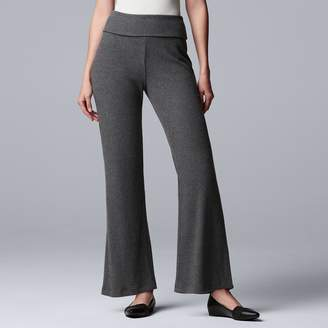 Vera Wang Women's Simply Vera Fold-Over Wide-Leg Pants