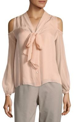 Haute HippieVida Cold-Shoulder Silk Shirt