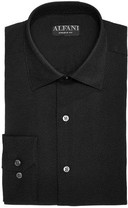 Alfani AlfaTech by Men's Slim Fit Performance Stretch Step Twill Textured Dress Shirt, Created For Macy's