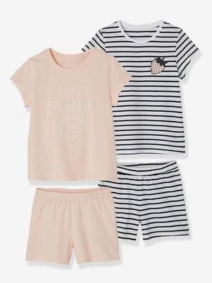 Vertbaudet Pack of 2 Mix & Match Short Pyjamas for Girls