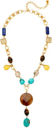 Loulou de la Falaise 24K Gold-Plated Multi-Stone Necklace