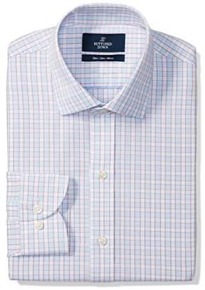 Buttoned Down Men's Slim Fit Cutaway Collar Pattern