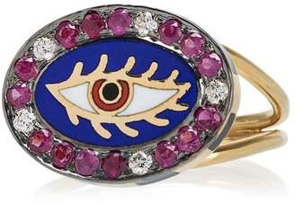 Americana Holly Dyment 18k yellow gold eye ring