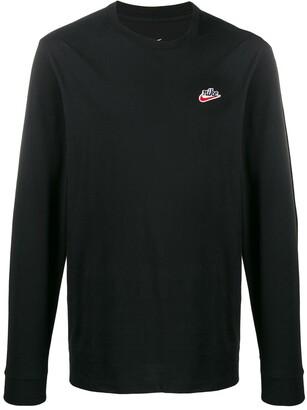 Nike embroidered logo jumper