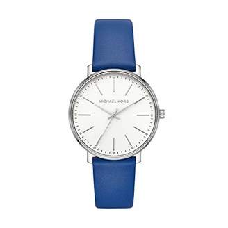 Michael Kors Women's Pyper Stainless Steel Quartz Watch with Leather Strap