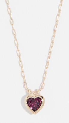 Jane Taylor 14k Medium Heart Bezel Necklace