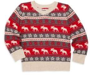 Hatley Little Boy's& Boy's Fair Isle Moose Sweater