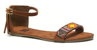 Muk Luks Women's Phoebe Beaded Flat Sandal