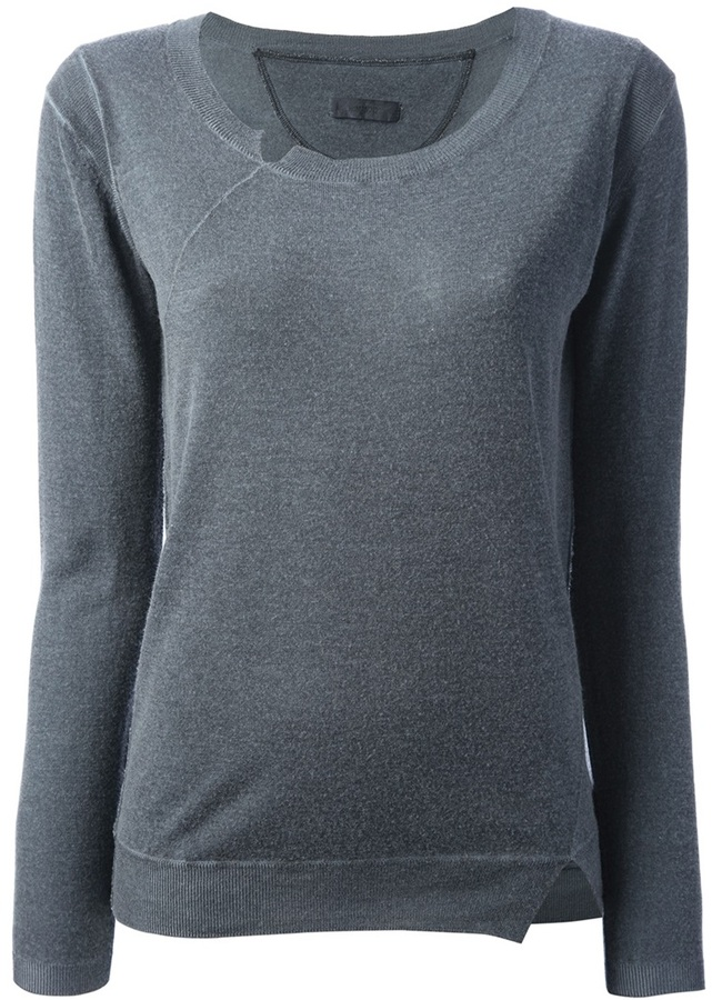 Humanoid notch detail sweater