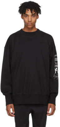 Y-3 Black Logo Graphic Sweatshirt