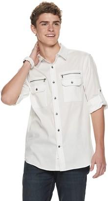 Men's Urban Pipeline Button-Front Zipper Shirt