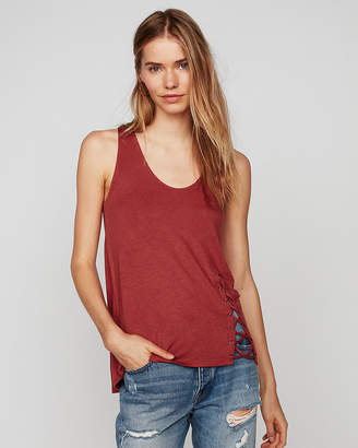 Express One Eleven Lace-Up Tank