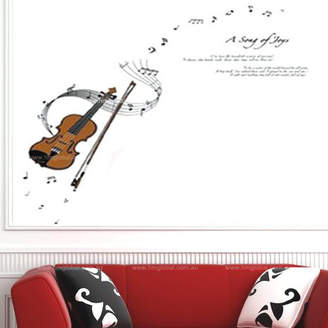 H&M Wall Decal Violin, Music Symbols, Song of Joy Removable Wall Decal