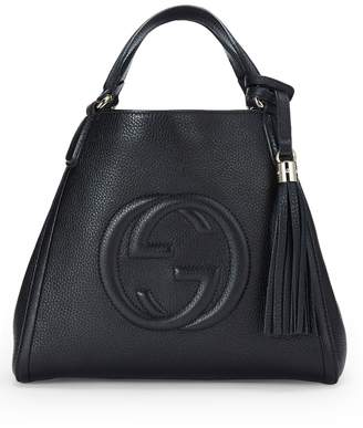 c73da5aa15c Gucci Leather Satchel Bags - ShopStyle
