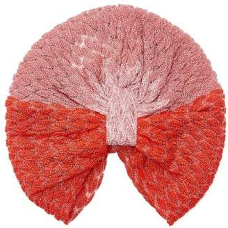 Missoni Mare - Degrade Knitted Turban Hat - Womens - Red Multi