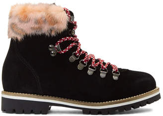 Mr & Mrs Italy Black and Pink Pedule Boots