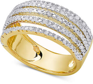 Diamond Multi-Band Statement Ring (1/2 ct. t.w.) in Sterling Silver or 18k Gold-Plated Sterling Silver