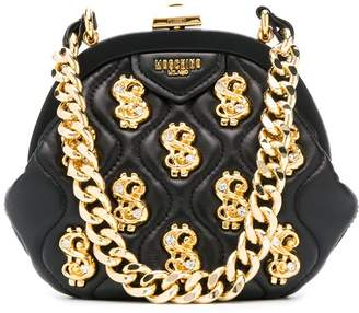 Moschino dollar sign plaque tote bag