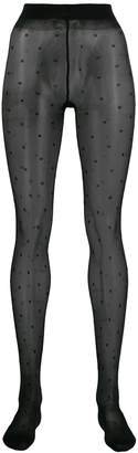 Saint Laurent sheer dotted tights