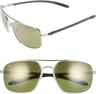 b68f0099cdcd4 Ray-Ban 62mm Polarized Aviator Sunglasses