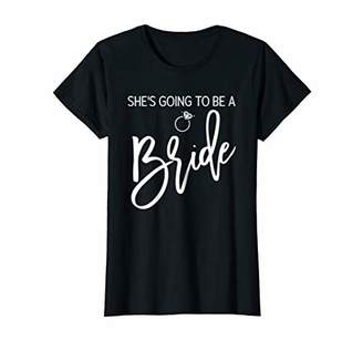Womens She's Going To Be A Bride Shirt Script Navy Blue