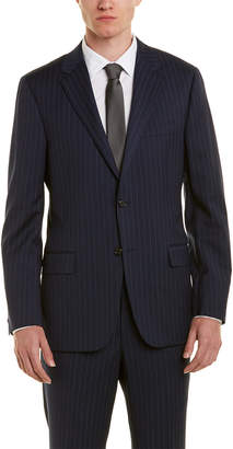 Hickey Freeman Wool Suit With Flat Front Pant