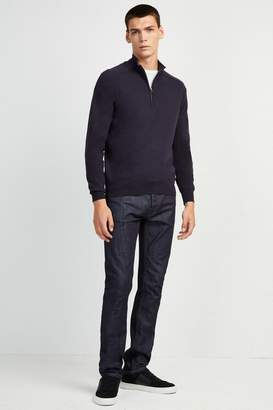 French Connenction Stretch Cotton Half-Zip Jumper