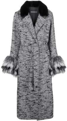 Simonetta Ravizza fur detail belted coat