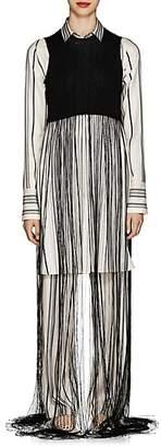 Jil Sander Women's Fringe-Trimmed Rib-Knit Sweatervest - Black