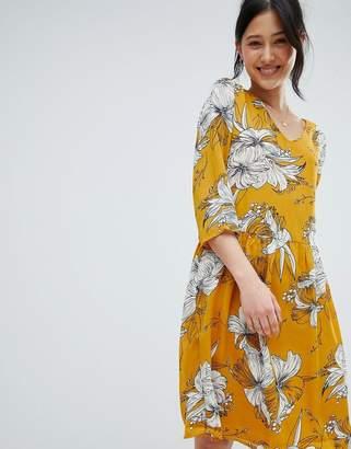 Ichi Printed V Neck Dress