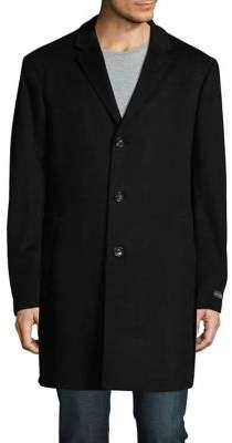 Black & Brown Black Brown Long Sleeve Coat