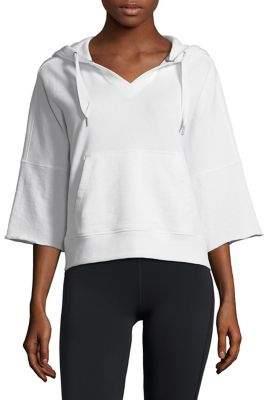 Calvin Klein Three-Quarter-Sleeve Boxy Hoodie