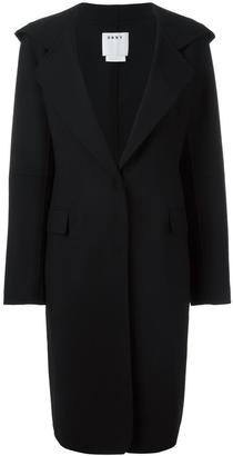 DKNY hooded coat $1,074 thestylecure.com