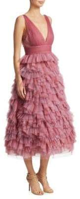 Marchesa Tulle Tiered Gown