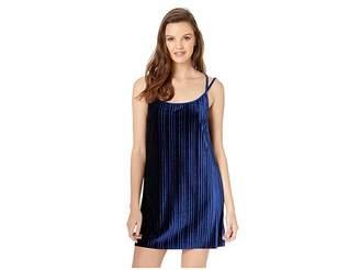 BB Dakota Pasadena Pleated Velvet Slip Dress