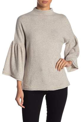 Three Dots Donegal Ruffle Sleeve Sweater
