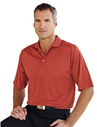 Tri-mountain Men's Polyester Side Vents Piping Polo Shirt