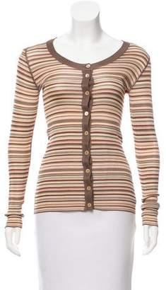 Dolce & Gabbana Striped Long Sleeve Polo w/ Tags