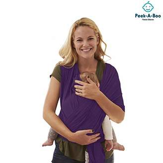 Peek-A-Boo   Premium Baby Wrap Carrier Adjustable Breastfeeding Cover Cotton Sling Baby Carrier for Infants up to 35 lbs/16kg, Soft and Comfortable   One Size Fits All   Cozy & Soothing For Babies   Suitable for Newborns, Infants & Toddlers   Premium Cotton/Spandex Comfort Fabric  100% Guarantee   Ideal Gift I PURPLE