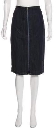 Tomas Maier Denim Knee-Length Skirt