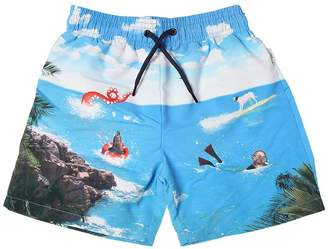 Paul Smith Sea Print Nylon Swim Shorts