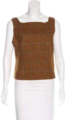 Philosophy di Alberta Ferretti Wool Plaid Top