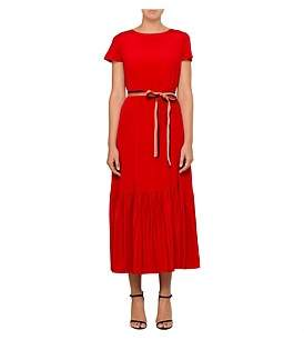Paul Smith S/S Midi Dress With Grosgrain Ribbon