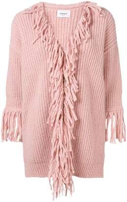 Dondup fringed neck cardigan