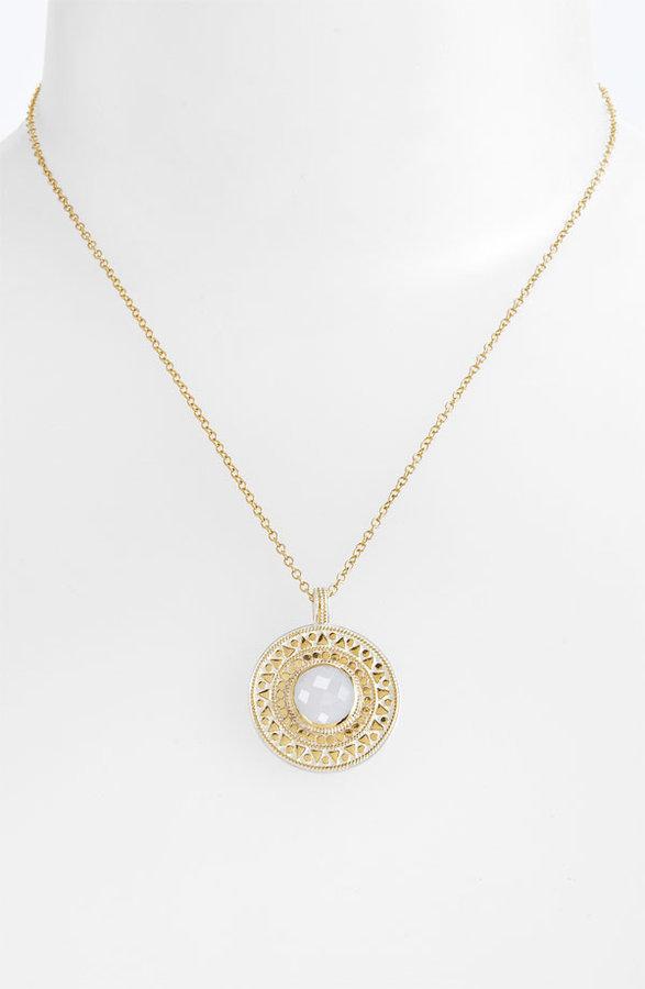 Anna Beck 'Flores' Stone Medallion Pendant Necklace