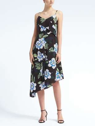 Print Strappy Asymmetrical Dress $148 thestylecure.com