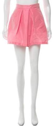 Tome Taffeta Culotte Mini Shorts