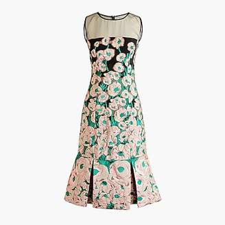J.Crew Collection fluted sheath dress in Ratti® climbing floral jacquard